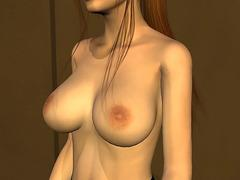 anime brunette in boob job hentai porn