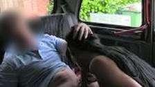 wild tourist teen fucks taxi driver