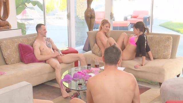 blonde horny loves lesbian friends