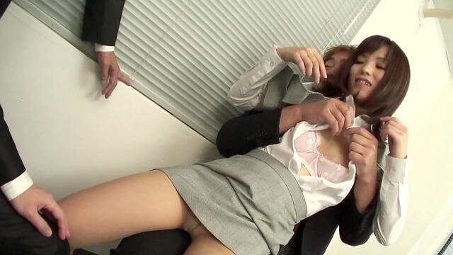 Horny after interview and gangbang BBW